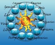 Símbolos del horóscopo ilustración del vector