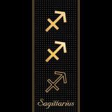 Símbolos del horóscopo del sagitario (EPS+JPG) Imagen de archivo libre de regalías