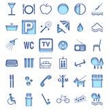 Símbolos del hotel Imágenes de archivo libres de regalías