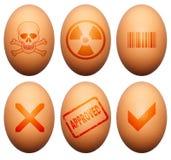 Símbolos del huevo Fotos de archivo libres de regalías