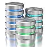 Símbolos del icono de la base de datos del almacenamiento de datos de la unidad de disco duro Fotografía de archivo libre de regalías