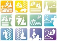 Símbolos del icono para el club de aptitud Imagenes de archivo