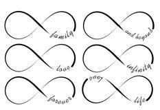 Símbolos del infinito Fotos de archivo