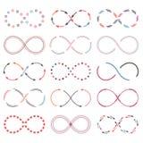 Símbolos del infinito Foto de archivo libre de regalías