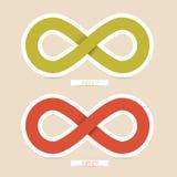 Símbolos del infinito del vector Foto de archivo libre de regalías