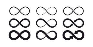 Símbolos del infinito Logotipo eterno, ilimitado, sin fin, de la vida o concepto del tatuaje libre illustration