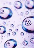 Símbolos del Internet fotos de archivo libres de regalías