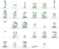 Símbolos del jabón Fotografía de archivo libre de regalías