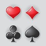 Símbolos del juego de la tarjeta Imagen de archivo libre de regalías