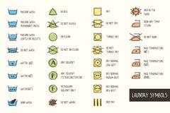 Símbolos del lavadero Imagenes de archivo