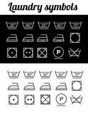 Símbolos del lavadero Imagen de archivo libre de regalías