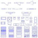 Símbolos del modelo usados por los arquitectos ilustración del vector
