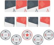 Símbolos del póker aislados Fotos de archivo libres de regalías