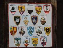 Símbolos del palio Imagen de archivo libre de regalías