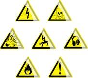 Símbolos del peligro Imagen de archivo libre de regalías
