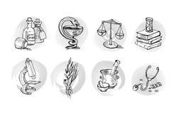 Símbolos del pharma del vector stock de ilustración