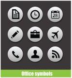 Símbolos del pictograma del círculo de la oficina del web Imagen de archivo libre de regalías