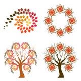 Símbolos del remolino del otoño ilustración del vector
