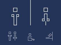 Símbolos del retrete Imágenes de archivo libres de regalías