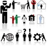 Símbolos del ser humano de los iconos de la gente Imagen de archivo libre de regalías