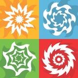 Símbolos del sol del vector Fotos de archivo libres de regalías