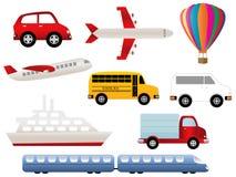 Símbolos del transporte Fotografía de archivo libre de regalías