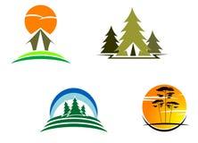 Símbolos del turismo Fotos de archivo
