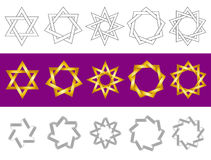 Símbolos del vector como estrellas Imagenes de archivo