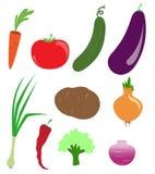 Símbolos del vector de verduras imagen de archivo