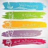 Símbolos del verano stock de ilustración
