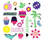 Símbolos del verano Foto de archivo libre de regalías