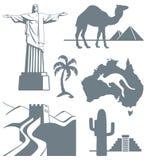 Símbolos del viaje Imágenes de archivo libres de regalías