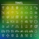 Símbolos del viaje y del turismo Vector Fotos de archivo libres de regalías