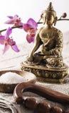 Símbolos del zen para el bienestar y la energía Imagen de archivo libre de regalías