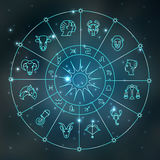Símbolos del zodiaco Fotografía de archivo