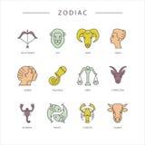 Símbolos del zodiaco Fotos de archivo