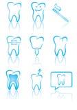 Símbolos dentales Fotos de archivo