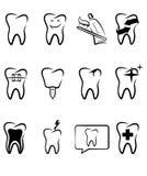 Símbolos dentales stock de ilustración