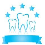 Símbolos dentales Cinco estrellas ilustración del vector