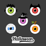 Símbolos Dia das Bruxas da ilustração Imagens de Stock