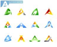 Símbolos do alfabeto A ilustração do vetor
