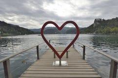 Símbolos do amor e da união fotografia de stock