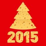 Símbolos do ano novo do queijo Imagens de Stock