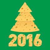 Símbolos do ano novo do queijo Imagens de Stock Royalty Free