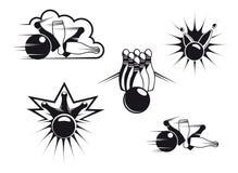 Símbolos do bowling Imagem de Stock Royalty Free