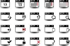 Símbolos do calendário Fotografia de Stock