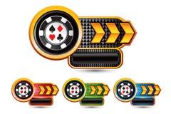 Símbolos do cartão de jogo Imagem de Stock Royalty Free
