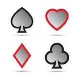 Símbolos do cartão de jogo Imagens de Stock