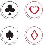 Símbolos do cartão de jogo Fotos de Stock