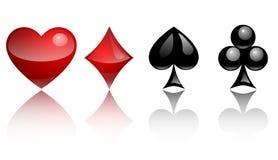 Símbolos do cartão de vidro Fotografia de Stock Royalty Free